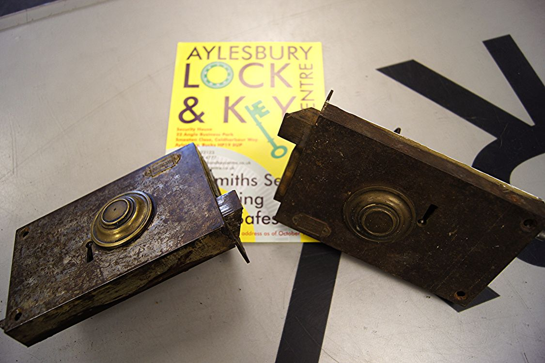 Antique locks and keys